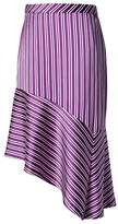 Banana Republic Stripe Asymmetrical Hem Skirt