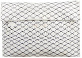 Maison Margiela Fence Print Leather Clutch