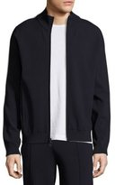 Vince Side-Stripe Knit Track Jacket, blue/White