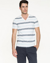 Le Château Stripe Cotton Slub T-Shirt