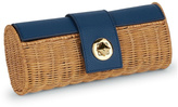 Mud Pie Rattan Barrel Clutch