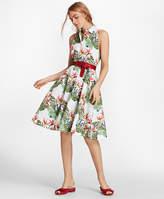 Brooks Brothers Tropical-Print Cotton Sateen Shirt Dress