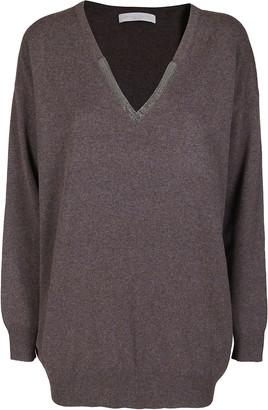 Fabiana Filippi Dark Grey Virgin Wool-silk Blend Jumper