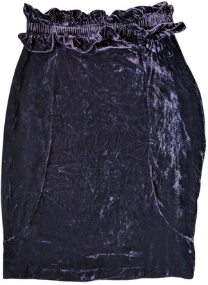 Carin Wester Purple Skirt for Women
