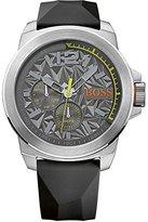 HUGO BOSS Orange Mens Black Rubber Strap Grey Dial 1513347 Watch