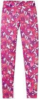 adidas Flowers Leggings (Kid) - Flower Spatter Printed-Large