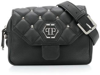 Philipp Plein Logo Studded Shoulder Bag