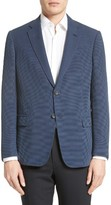 Armani Collezioni Men's Trim Fit Micro Texture Jacket