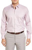 David Donahue Regular Fit Plaid Sport Shirt