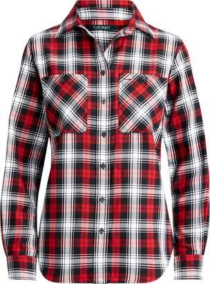 Ralph Lauren Plaid Roll-Tab-Sleeve Shirt