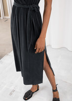 And other stories Belted Cupro Midi Dress