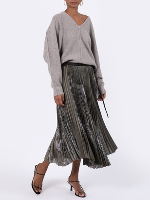 Sacai Green Sun-surf Print Skirt