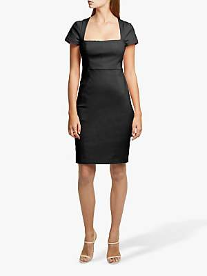 French Connection Glass Stretch Cap Sleeve Dress, Black