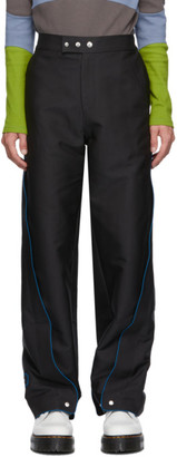 Keenkee Black Wide Side Panel Trousers
