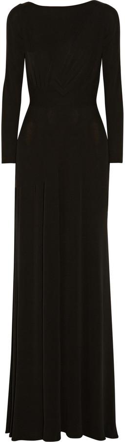 Issa Gathered silk-jersey maxi dress