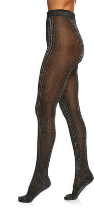 Marc Jacobs Runway) Shimmer Ribbed Tights