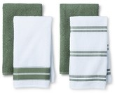 Threshold Terry Kitchen Towel Green - (4 Pack