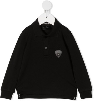 John Richmond Junior Logo-Patch Cotton Polo Shirt