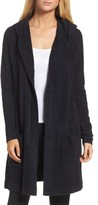 Women's Barefoot Dreams Cozychic Lite Coastal Hooded Cardigan