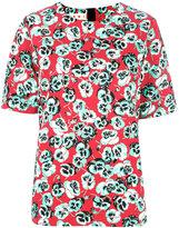 Marni Poetry Flower blouse - women - Cotton/Linen/Flax - 40