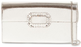 Roger Vivier Metal Leather Envelope Clutch