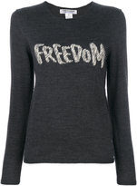 Comme des Garcons freedom embroidered jumper