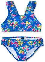 Ralph Lauren 2-Pc. Floral-Print Swimsuit, Toddler & Little Girls (2T-6X)