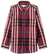 Burberry Red Mini Fred Check Shirt