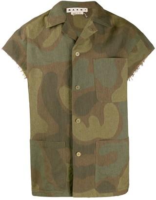 Marni Camouflage Print Shirt