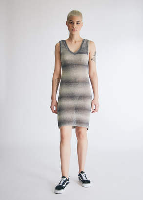 Which We Want Women's Sofia Knit Dress in Charcoal/Cream, Size Extra Small