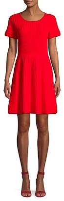 Parker Hamilton Cutout Knit Flare Dress