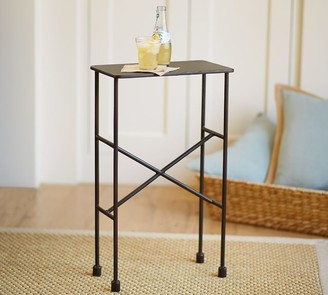 "Pottery Barn Zane 14"" Metal Accent Table"