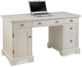 Bed Bath & Beyond Home Styles Naples Pedestal Desk in White Finish
