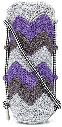 M Missoni Chevron Knitted Crossbody Bag