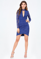Bebe Claire Shirred Lace Dress