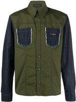 Mr & Mrs Italy contrast panel double pocket shirt