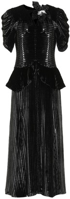 Erdem Diantha velvet dress