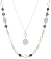 lonna & lilly Silver-Tone 2-Pc. Set Pendant and Stone Necklaces