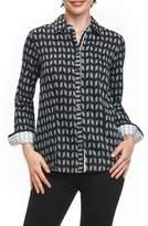 Foxcroft Brooke Chevron Geo Wrinkle Free Shirt
