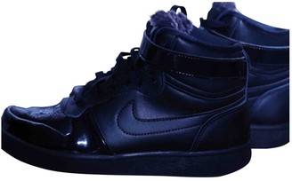 Nike \N Black Leather Ankle boots