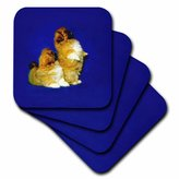 3dRose cst_497_4 Pekingese Ceramic Tile Coasters, Set of 8