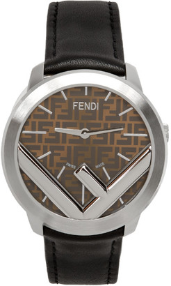 Fendi Silver and Black Run Away F is Watch