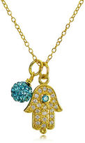 Lord & Taylor Goldtone Hamsa Hand and Fireball Pendant Necklace