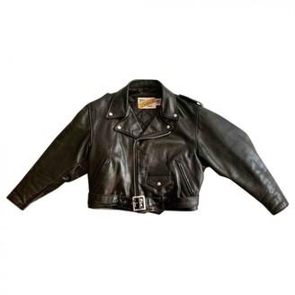Schott Black Leather Jacket for Women Vintage