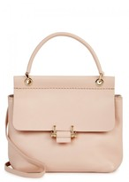 Lanvin Essential Mini Blush Leather Tote