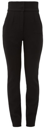 Dolce & Gabbana High-rise Zipped Cuff Wool-blend Trousers - Black