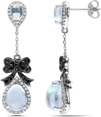 Diamond Select Cuts 14K 6.14 Ct. Tw. Diamond & Sky Blue Topaz Earrings