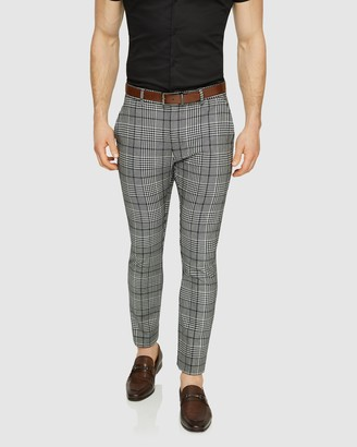 TAROCASH Moss Slim Check Pants