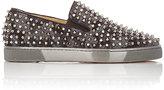 Christian Louboutin Men's Roller-Boat Slip-On Sneakers-GREY