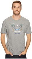 Life is Good Palm Tree Hammock Smooth Tee Men's Short Sleeve Pullover